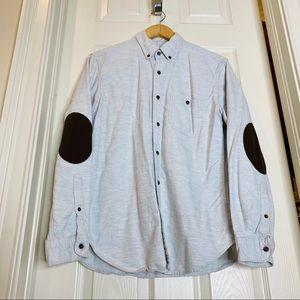 J.Crew Gray flannel button down size Medium